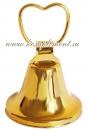 Колокольчик (сердечко, золото)
