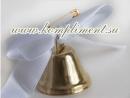 Колокольчик ( белая атласная ленточка, диаметр 30 мм)