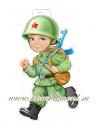 Мальчик в каске (плакат вырубной)