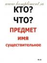 Опорные таблицы. Русский язык 1 класс