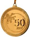 """Медаль """"50 лет. С юбилеем!"""" (лента триколор в комплекте) 21.01"""