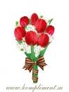 Букет.Тюльпаны с георгиевской лентой (плакат вырубной)