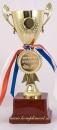 Кубок чаша на постаменте и медаль Лучший учитель