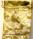 Мешочек (органза) желтый с золотом