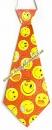 Галстук карнавальный (оранжевый, смайлики)