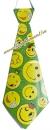 Галстук карнавальный (зеленый, смайлики)