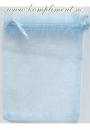 Мешочек голубой, органза (9 см*12 см)