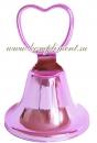 Колокольчик (сердечко, розовый)