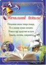 """Плакат """"С окончанием начальной школы"""""""