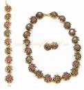 Комплект серьги, колье, браслет (розовый)