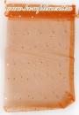 Мешочек (органза, блестки, размер 15 см*20 см, цвет - оранжевый)