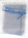 Мешочек (органза, размер 20 см*30 см, цвет - голубой)
