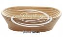 Корзинка из ротанга для расстойки теста, размер 27,5*15*5 см