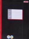 Тетрадь А4, 16 листов, линейка, обложка - цвет черный.