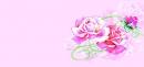 Открытка мини (розовые розы)