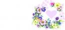 Открытка мини (сердечко и цветы)