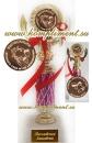 Кубок Выпускник детского сада (на узкой ножке малинового цвета)