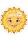 Солнышко с ромашкой