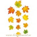 Осенние листья, 3 каскада для украшения на золотом шнурке