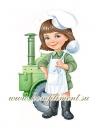 Девочка-повар (плакат вырубной)