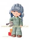 Мальчик-танкист (плакат вырубной)