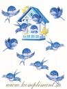 Подвесные птички, порхающие вокруг кормушки