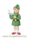 Девочка с голубем (плакат вырубной)