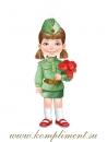 Девочка с гвоздиками (плакат вырубной)
