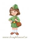 Девочка с сумкой (плакат вырубной)