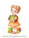 Девочка с игрушками (плакат вырубной)