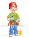 """Плакат """"Мальчик-строитель"""""""