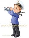 """Плакат """"Мальчик - моряк с биноклем"""""""